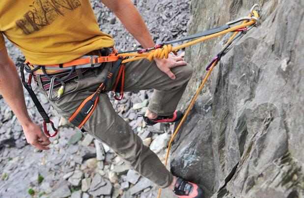 Lower off a sport climb